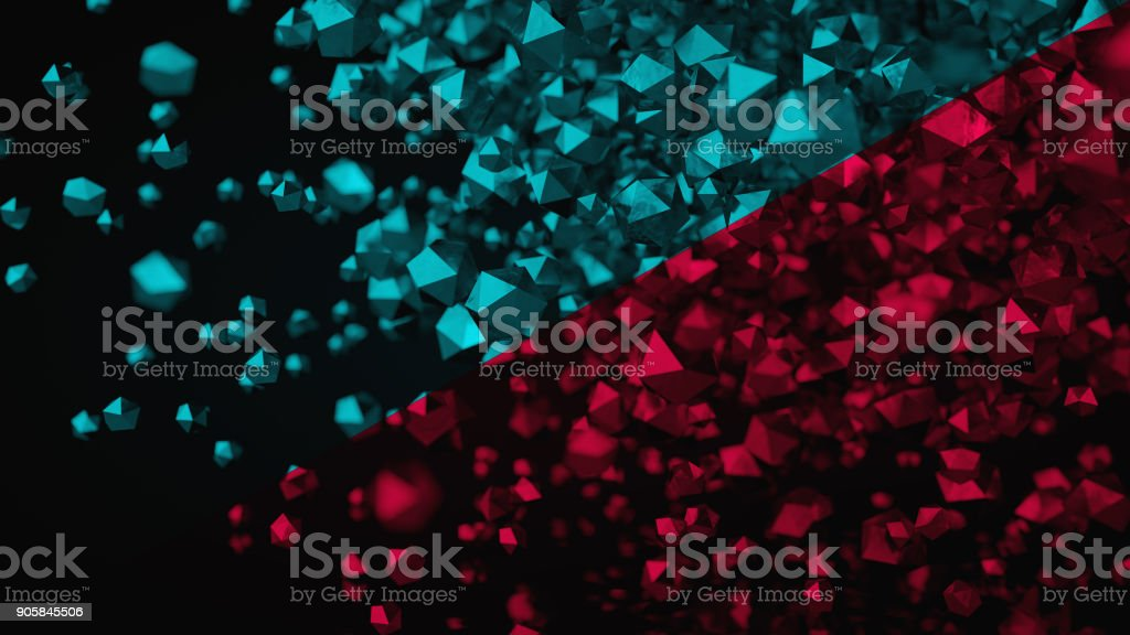 3D Abstract Color Platonic Composition, Background, Rendering stock photo