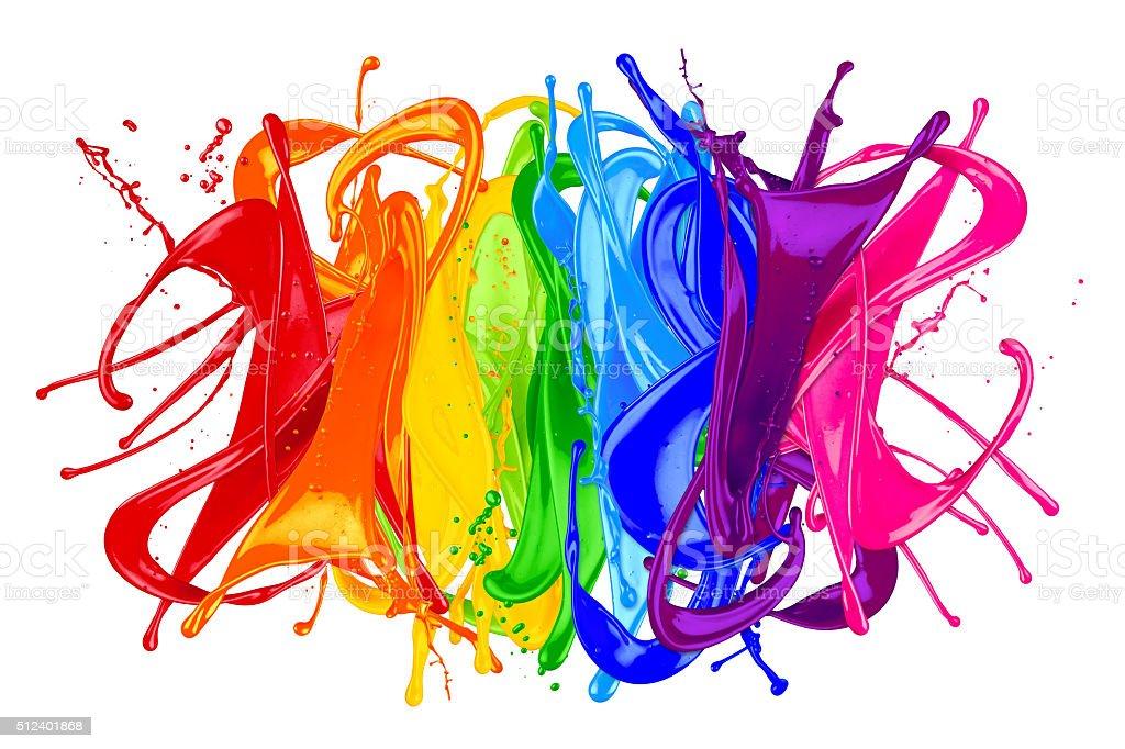 abstract color splash rainbow stock photo