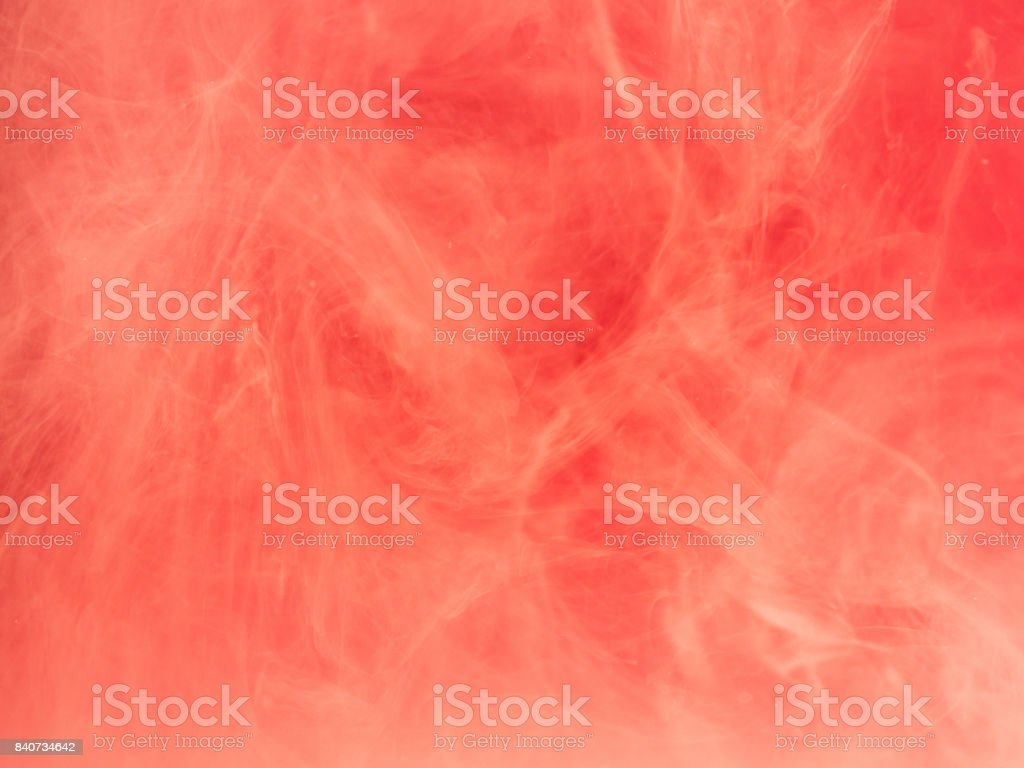 Abstract colored background. Pink smoke, ink in water, the patterns of the universe. Abstract movement, frozen multicolor flow of paint. Horizontal photo with soft focus, blurred backdrop stock photo