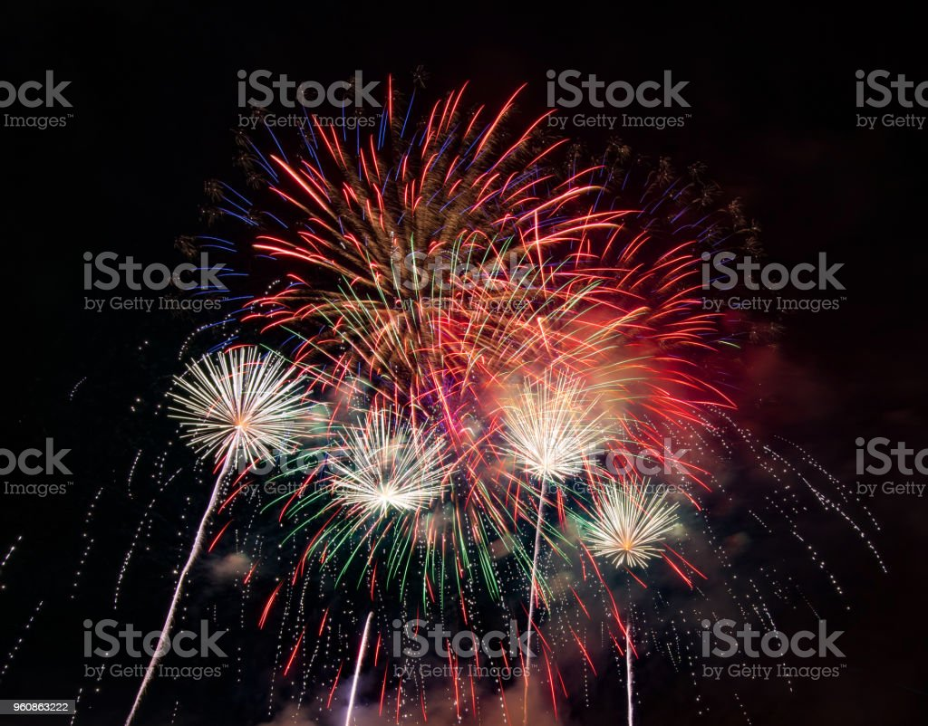 Abstract Colored Firework Background Used For Overlay New