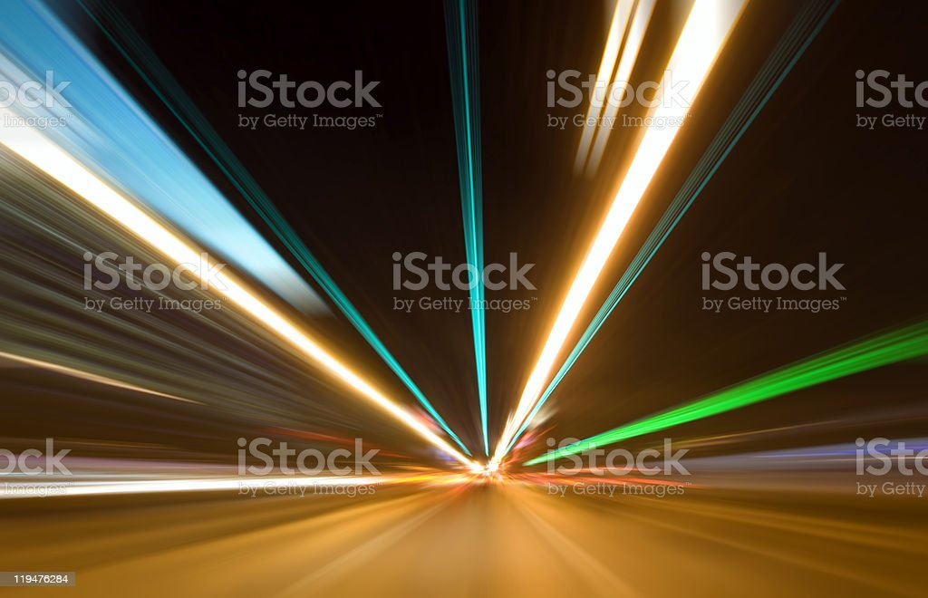 Abstract colored light at night royalty-free stock photo