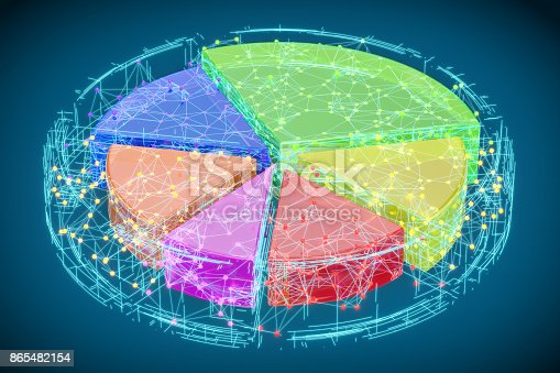 172875849 istock photo Abstract Colored Pie Chart, 3D rendering 865482154