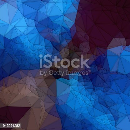 520740170 istock photo Abstract colored polygonal mosaic background. Triangular geometric style. 3d rendering 945291282