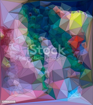 istock Abstract colored polygonal triangular mosaic background. 3d rendering 636663558