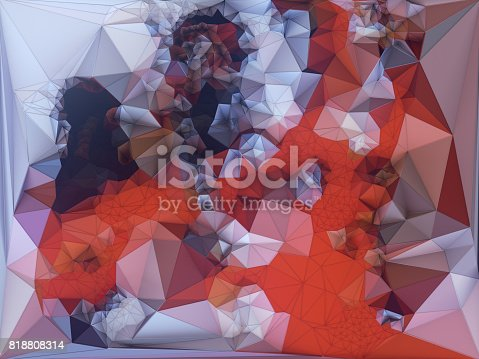 520740170 istock photo Abstract colored polygonal triangular mosaic background. 3d rendering 818808314