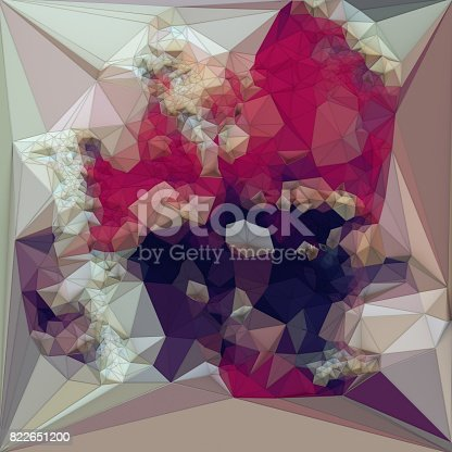 520740170 istock photo Abstract colored polygonal triangular mosaic background. 3d rendering 822651200