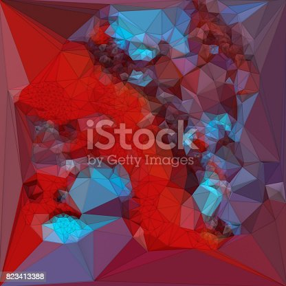 520740170 istock photo Abstract colored polygonal triangular mosaic background. 3d rendering 823413388