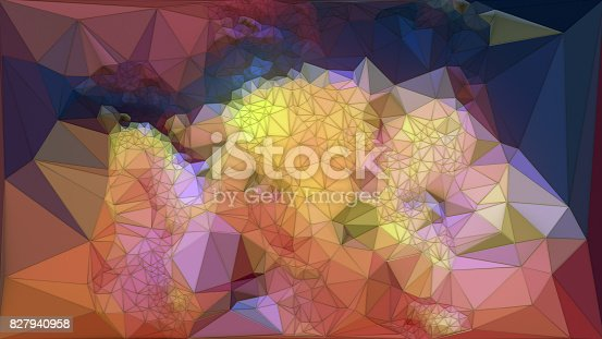 520740170 istock photo Abstract colored polygonal triangular mosaic background. 3d rendering 827940958
