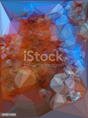 624878906istockphoto Abstract colored polygonal triangular mosaic background. 3d rendering 840514454