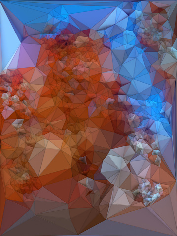 624878906 istock photo Abstract colored polygonal triangular mosaic background. 3d rendering 840514454