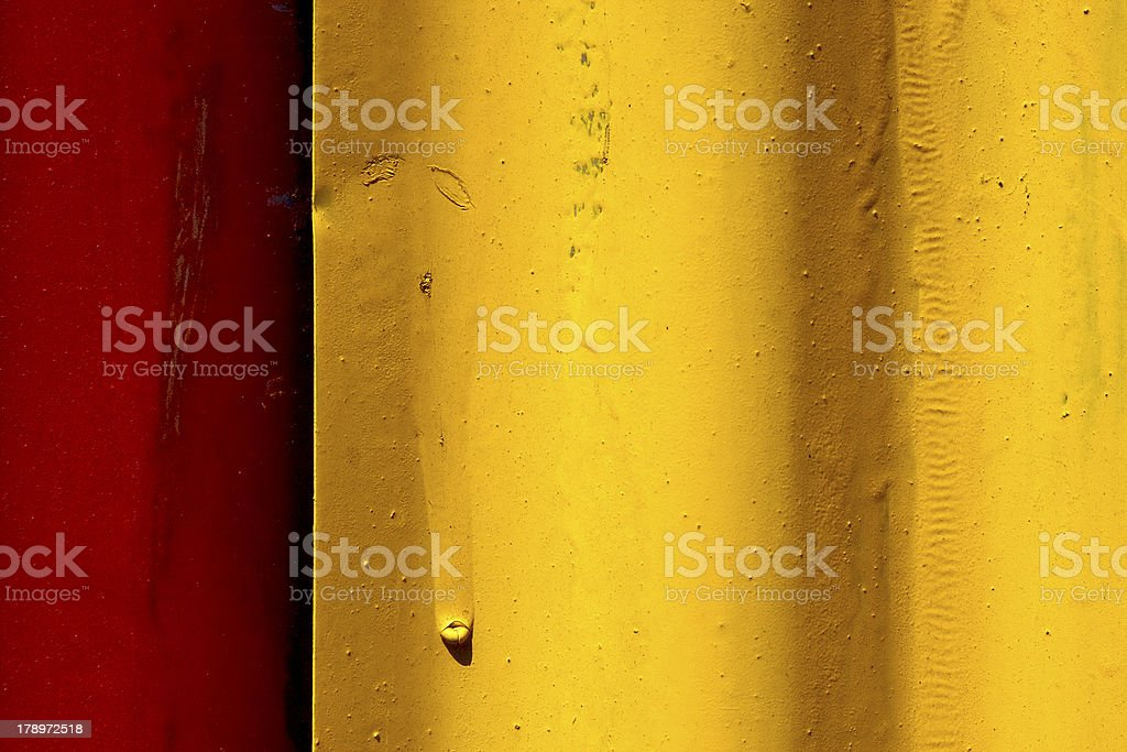 abstract colored red and yellow iron metal sheet royalty-free stock photo