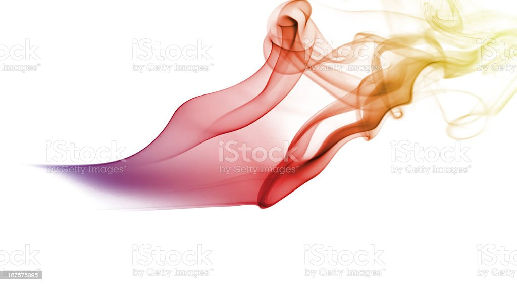 Abstract colored smoke royalty-free stock photo