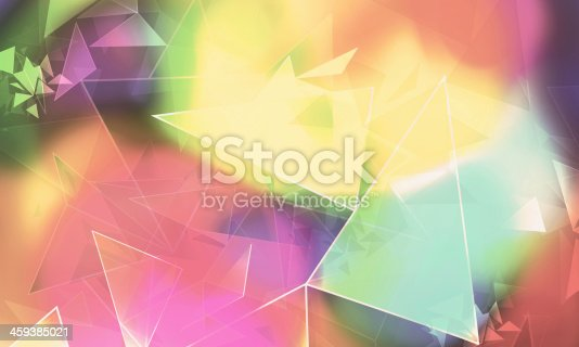 istock Abstract Colorful Angular Background 459385021