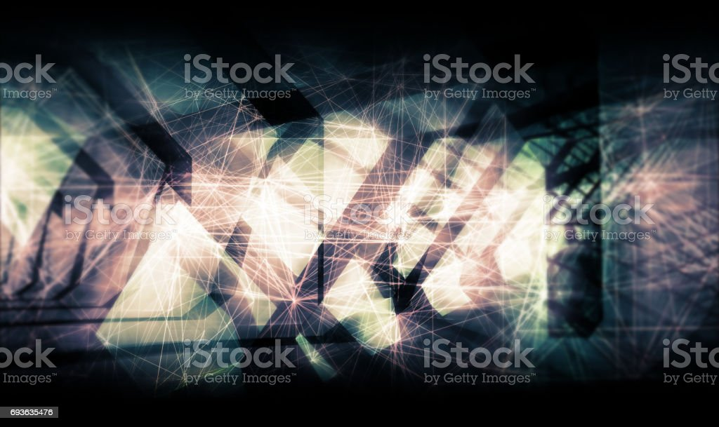 Abstract colorful artistic digital background cg stock photo
