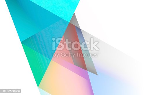 istock Abstract colorful background pattern 3d art 1012538684