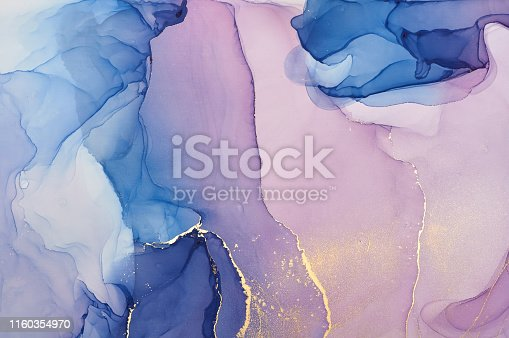 istock Abstract colorful background, wallpaper. Mixing acrylic paints. Modern art. Marble texture. Alcohol ink colors  translucent 1160354970