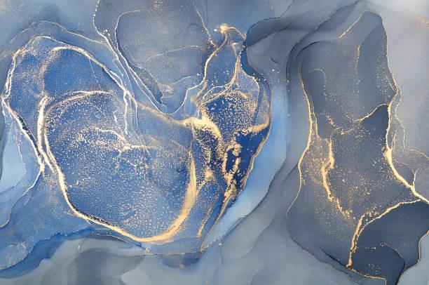fundo colorido abstrato, papel de parede. misturando tintas acrílicas. arte moderna. textura de mármore. cores da tinta do álcool translúcidas - abstract - fotografias e filmes do acervo