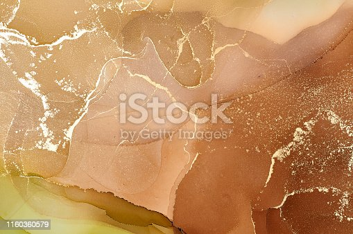 istock Abstract colorful background, wallpaper. Mixing acrylic paints. Modern art. Marble texture. Alcohol ink colors  translucent 1160360579