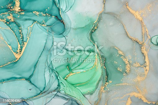 istock Abstract colorful background, wallpaper. Mixing acrylic paints. Modern art. Marble texture. Alcohol ink colors  translucent 1160364361