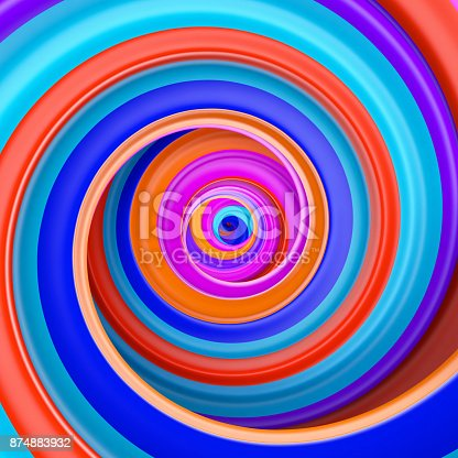 istock Abstract colorful circle swirl background 874883932