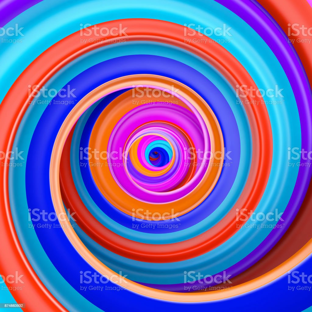 Abstract colorful circle swirl background stock photo