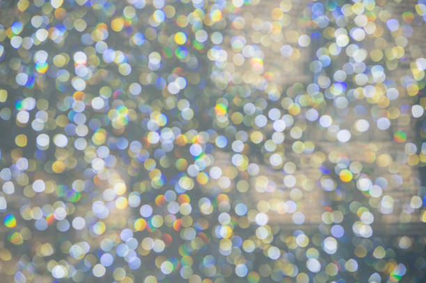 abstract colorful Bokeh circles Christmas background – Foto