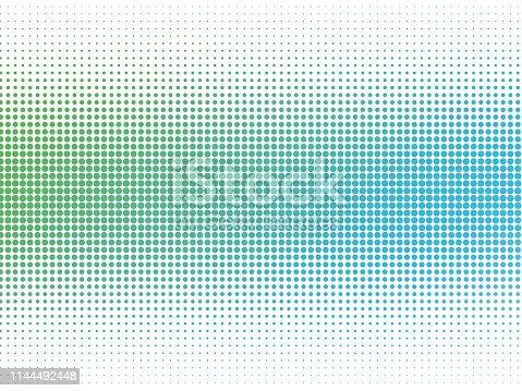 Abstract colorful circles halftone