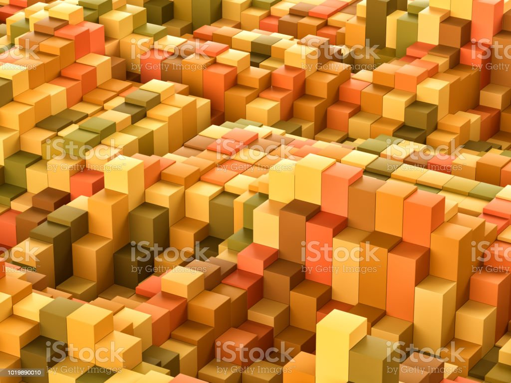 Abstract colorful cube block background stock photo