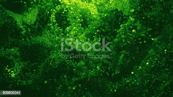 istock Abstract Colorful Cube Particles Background - 3D illustration 609805044