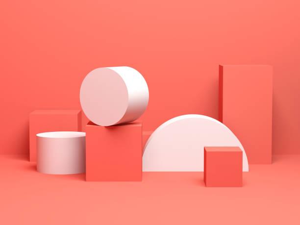 abstract colorful digital still life background - cilindro formas geométricas imagens e fotografias de stock