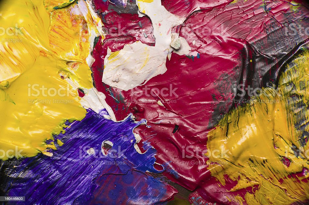 Abstract colorful dry acrylic paint royalty-free stock photo