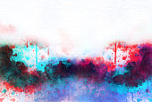 istock Abstract colorful frame template Colorful painting texture background and colorful splash brush to art. 896891296