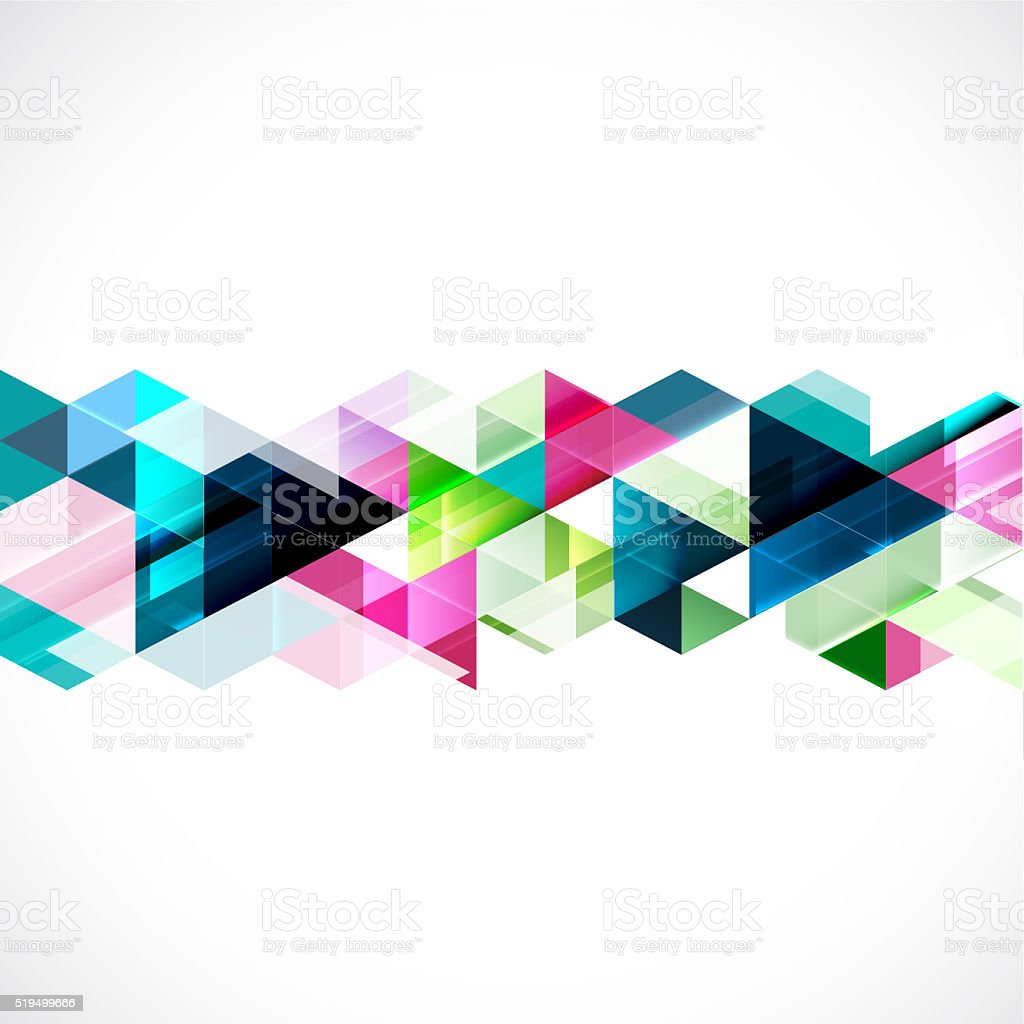 Abstract colorful geometric modern template for business or tech stock photo