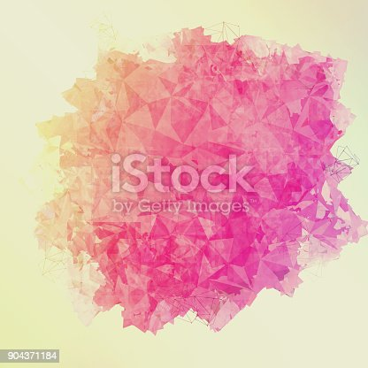 istock Abstract colorful geometric polygonal texture background and low poly color. 904371184