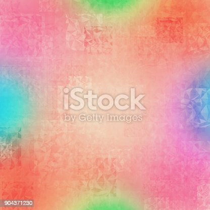 istock Abstract colorful geometric polygonal texture background and low poly color. 904371230