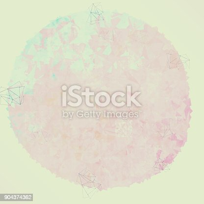 istock Abstract colorful geometric polygonal texture background and low poly color. 904374362
