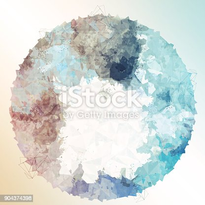 istock Abstract colorful geometric polygonal texture background and low poly color. 904374398