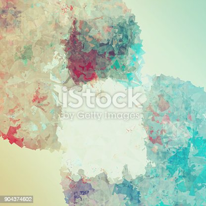 istock Abstract colorful geometric polygonal texture background and low poly color. 904374602