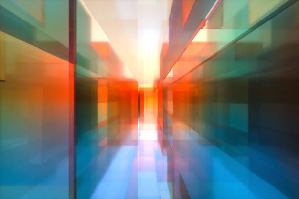abstract colorful glass background - desfocado focagem imagens e fotografias de stock
