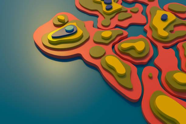 Paysage coloré abstrait - Photo