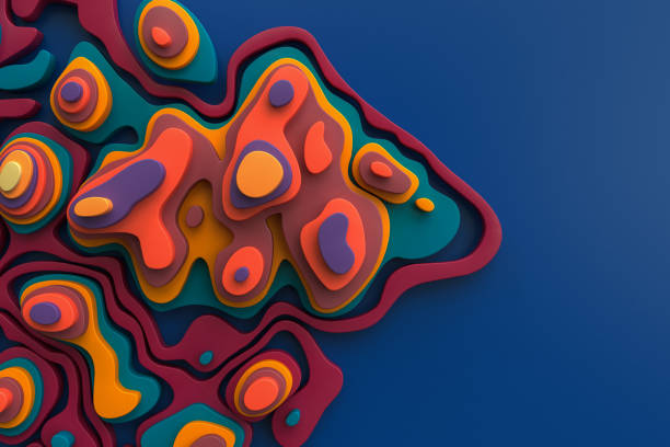 Abstract colorful landscape stock photo