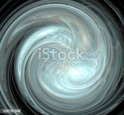 1043738824 istock photo Abstract colorful light blue swirl on black background. Fantasy fractal texture. Digital art. 3D rendering. Computer generated image. 1032761348
