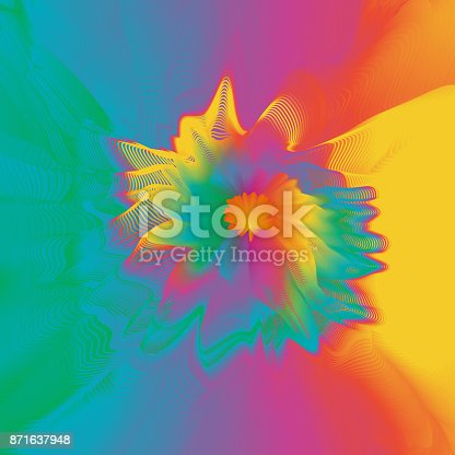 1140293905 istock photo Abstract colorful line art and painting background. Energetic macro flower inspirational concept. 871637948