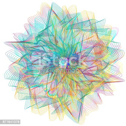 1140293905 istock photo Abstract colorful line art and painting background. Energetic macro flower inspirational concept. 871641078