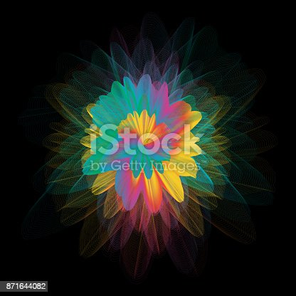 1140293905 istock photo Abstract colorful line art and painting background. Energetic macro flower inspirational concept. 871644082