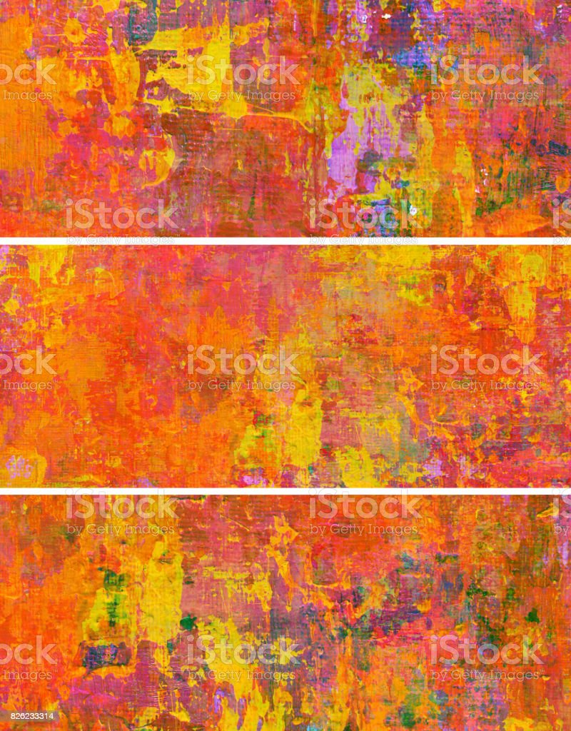 Abstract colorful painting banners stock photo