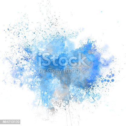 istock Abstract Colorful painting texture background, Colorful brush background. 864213120
