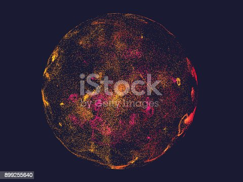 899255516 istock photo Abstract colorful particle background 899255640