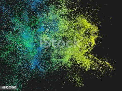 899255684istockphoto Abstract colorful particle background 899255662