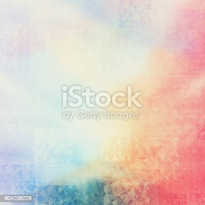 istock abstract colorful polygon texture background and soft poly color. 904208226